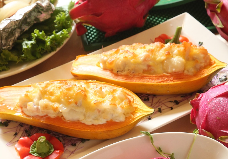 起司焗烤木瓜