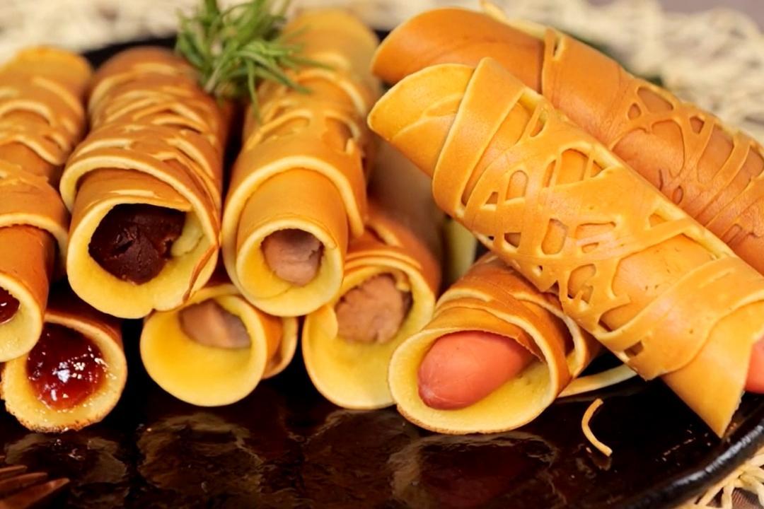 平底鍋做「蕾絲花式銅鑼燒」超簡單!鹹的甜的都能捲
