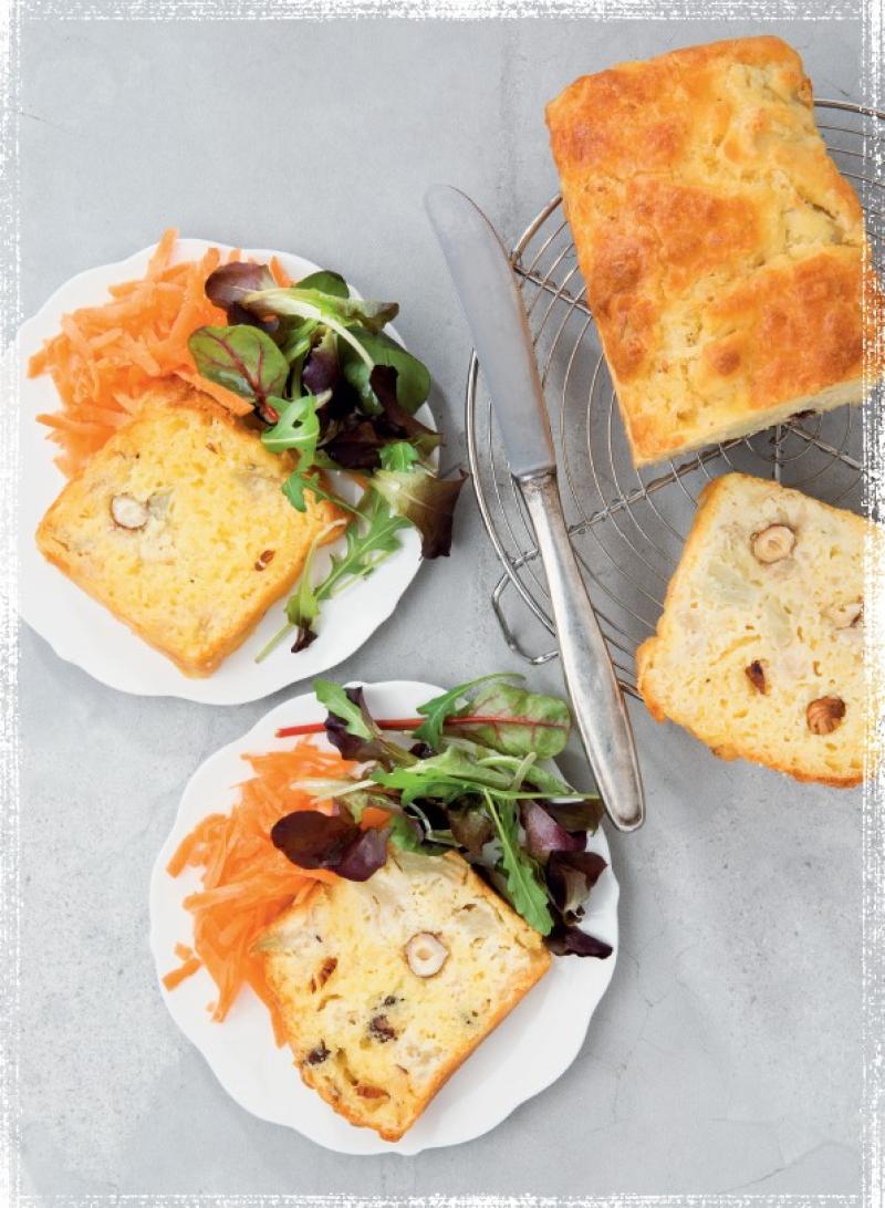 切達乳酪榛果花椰菜蛋糕
