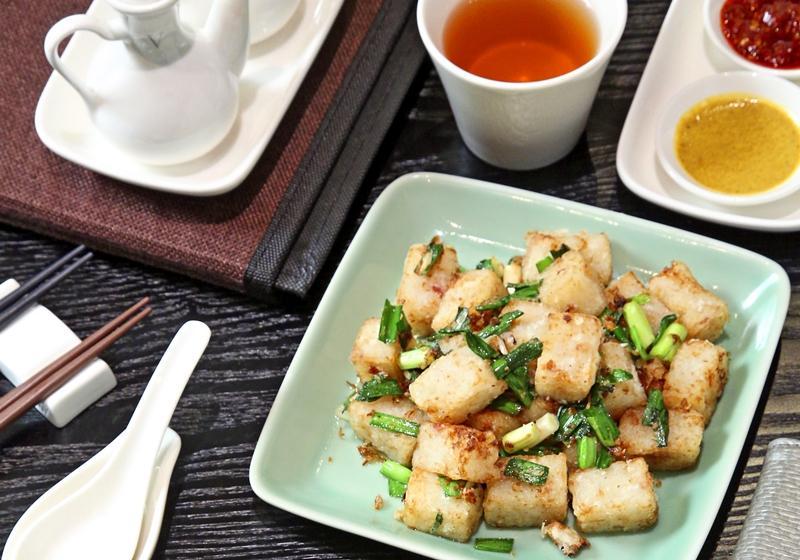 XO醬蘿蔔糕炒韭菜