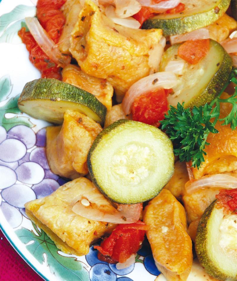 義式蔬菜醬南瓜麵疙瘩