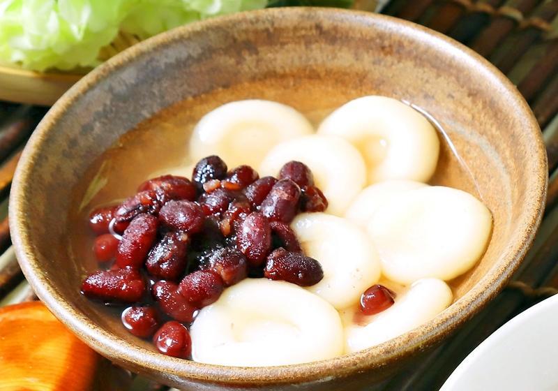 白玉紅豆湯圓