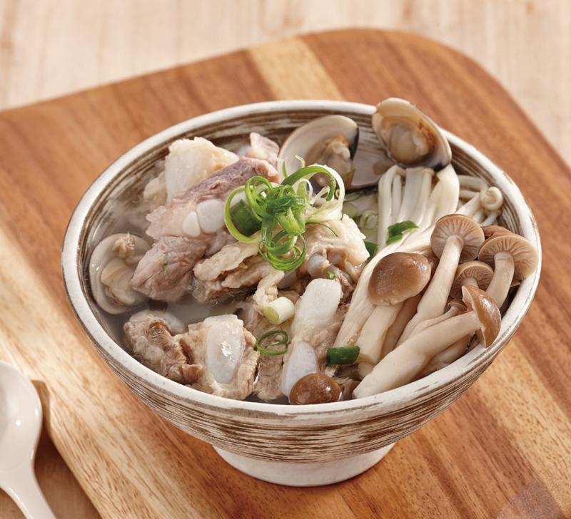蛤蜊雙菇排骨湯