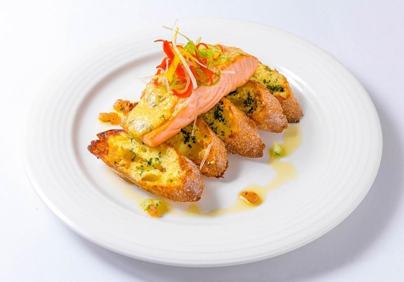 美威鮭魚•香烤鮭魚佐法式大蒜麵包