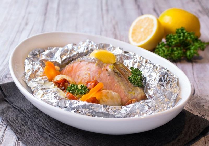 美威鮭魚•紙包奶油檸檬鮭魚