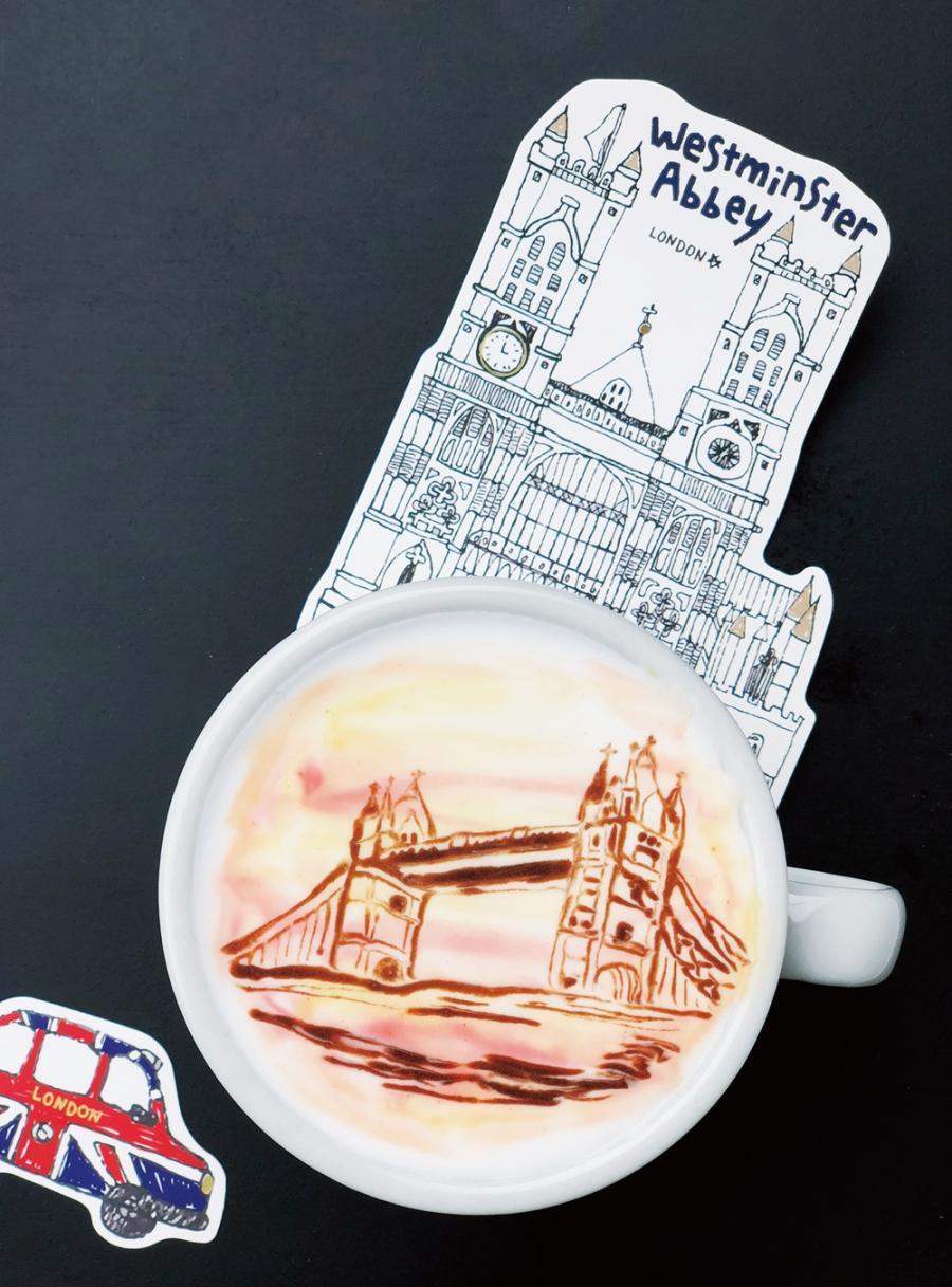 新手也能學會的咖啡拉花 | 落日映照下的倫敦塔橋