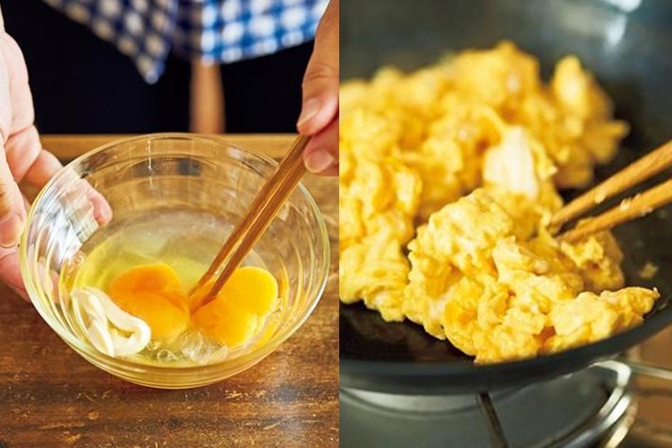 日式炒蛋加一匙「秘密武器」,口感更鬆軟香甜!