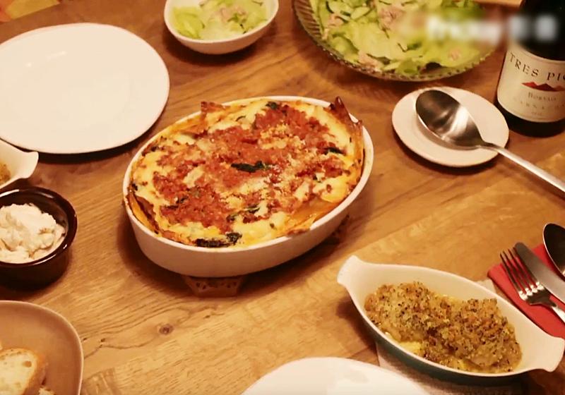 【昨日的美食】料理食譜 5:千層麵 + 香草麵包烤雞