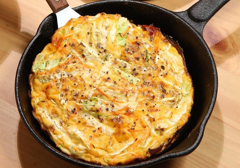 蘆筍高麗菜烘蛋