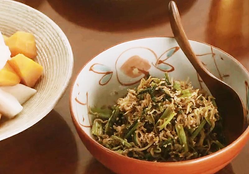 【昨日的美食】料理食譜 14:吻仔魚炒大頭菜