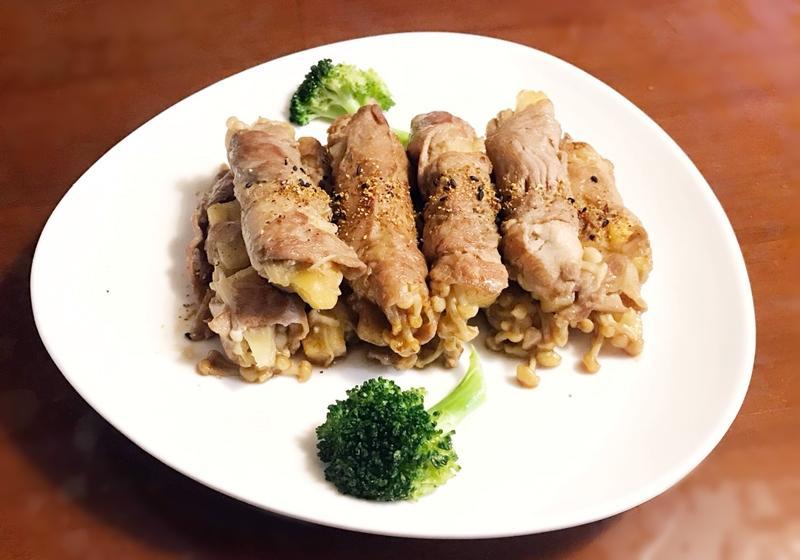 鳳梨金針菇燒肉捲