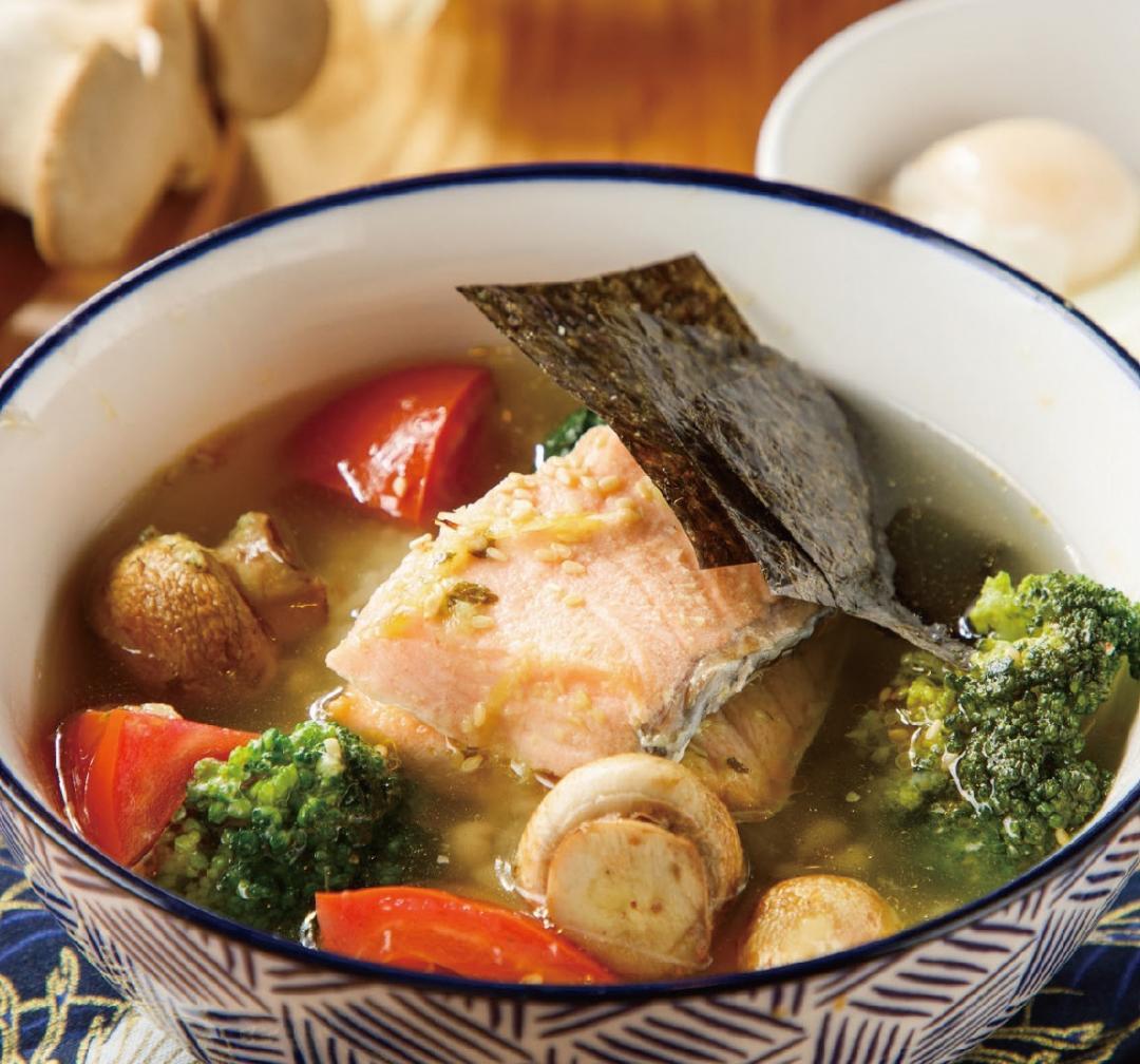 日式香蒜鮭魚茶泡飯
