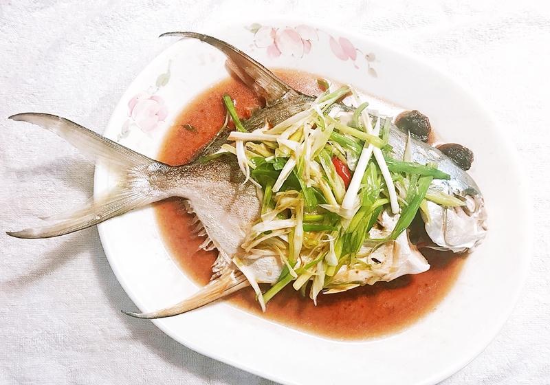 香辣梅汁蒸魚