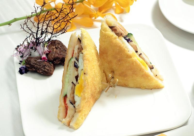 茄子沙拉吐司三明治