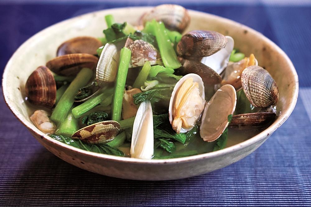 鮮煮小松菜蛤蜊