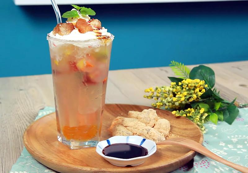 自製日式蕨餅 + 柚子綠茶 (影音)