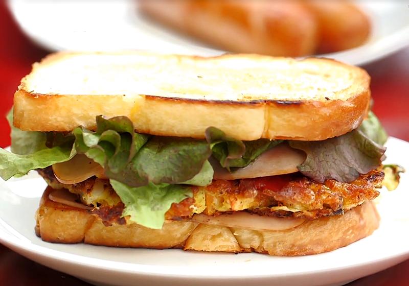 【一日三餐‧山村篇】料理食譜:雞蛋煎餅三明治