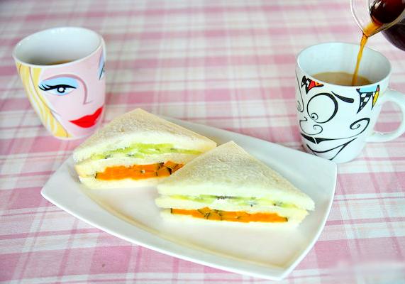 南瓜奇異果三明治