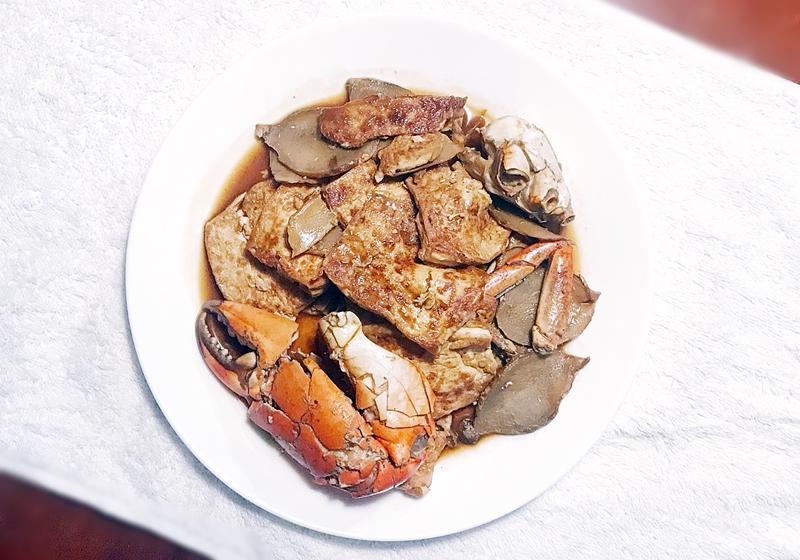 螃蟹燒豆腐