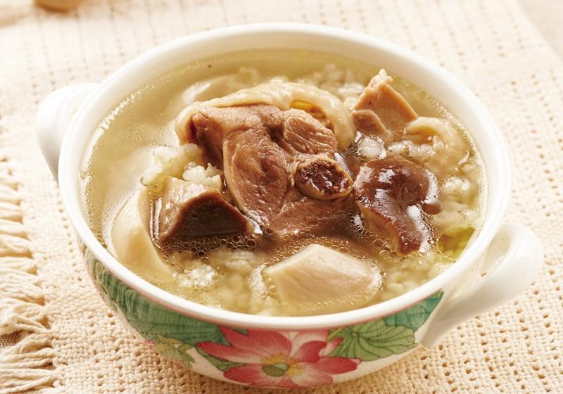 杏鮑菇糙米雞湯