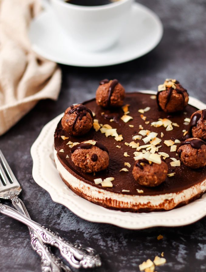 全素巧克力榛果冰淇淋蛋糕 (影音)