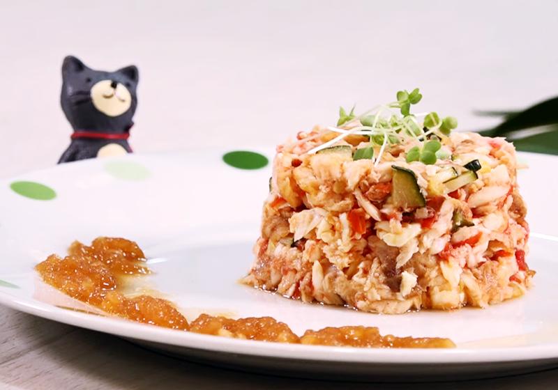 【寵物食譜】櫛瓜鮮魚豆腐塔 (影音)