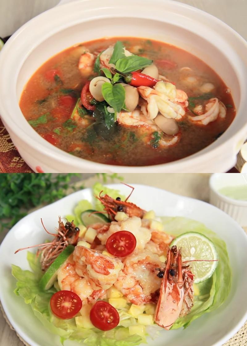 泰式冬陰功海鮮湯 + 芥末蝦 (影音)