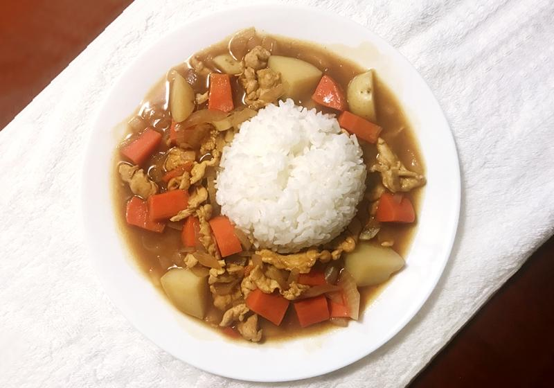 薑黃雞肉咖哩飯