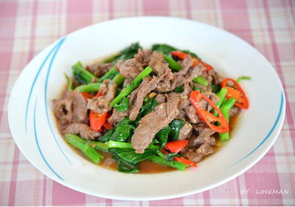 蠔油芥藍炒牛肉