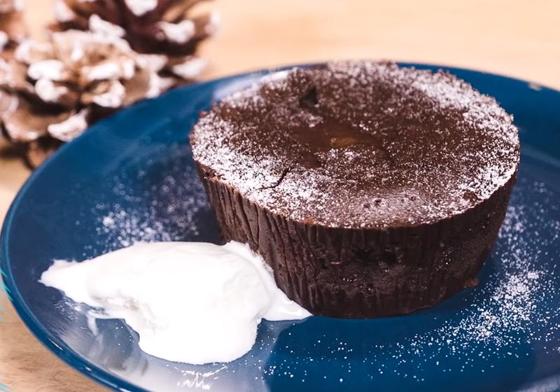 熔岩巧克力蛋糕 (影音)