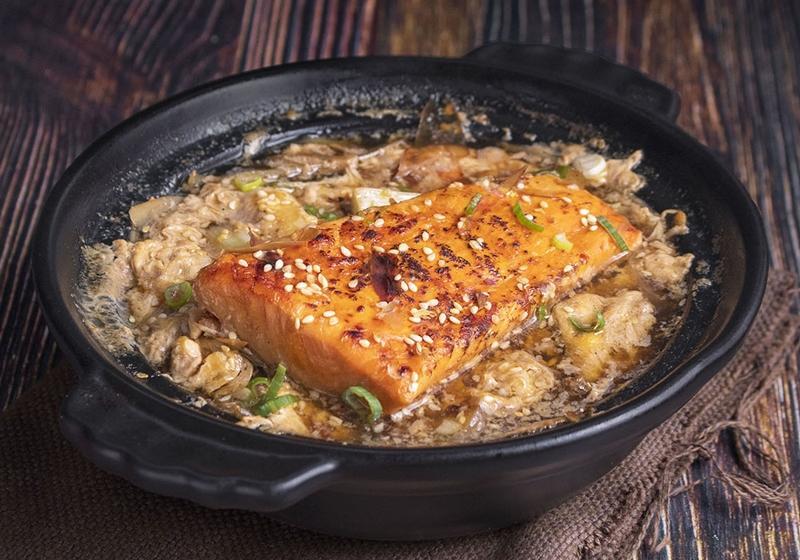 蒲燒鮭魚柳川鍋