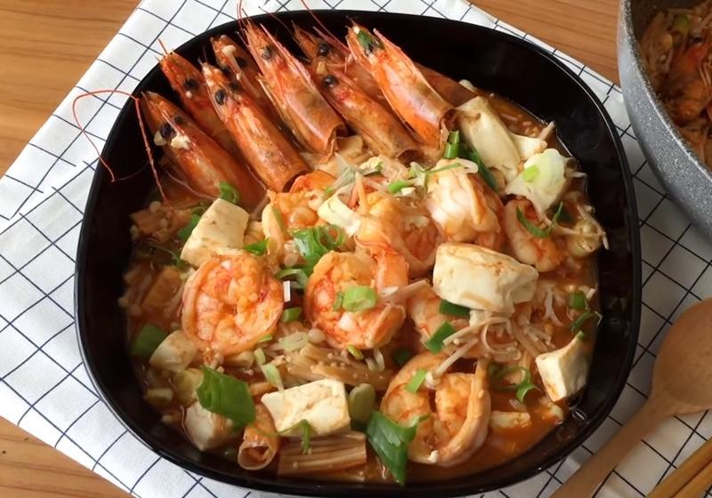 鮮蝦豆腐煲 (影音)