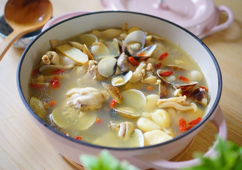養生抗病   蛤蜊蒜頭雞湯 (影音)