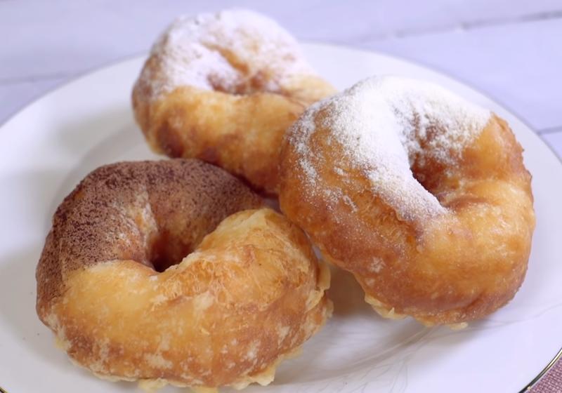 脆皮牛奶甜甜圈 (影音)
