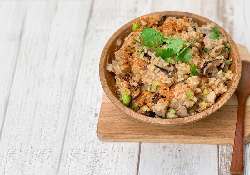電鍋料理|芋頭香菇炊飯