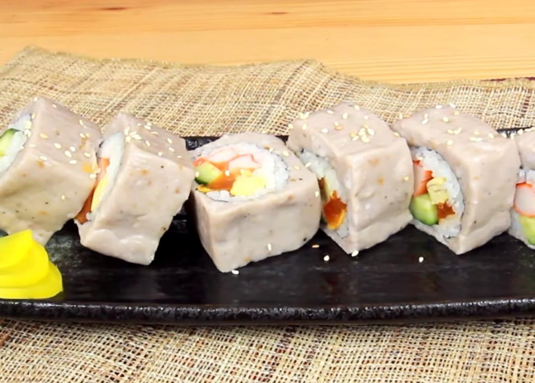 芋泥控一定會愛的新吃法!芋泥壽司尬鹹蛋黃意外超搭(影音)