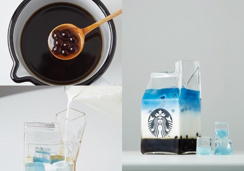 高顏值黑糖珍珠飲品DIY「湛藍奶茶」漸層配色好消暑