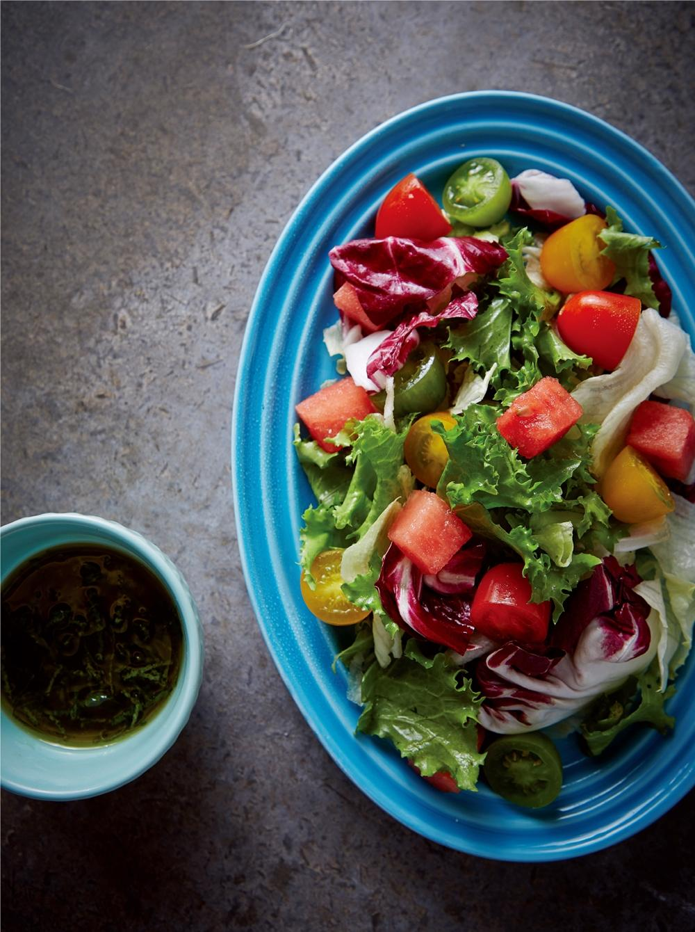 《保鮮盒快沙拉》西瓜小番茄佐蘋果薄荷醬