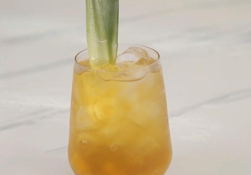 「鳳梨冰茶」升級版!自製鳳梨果醬+綜合果粒好消暑