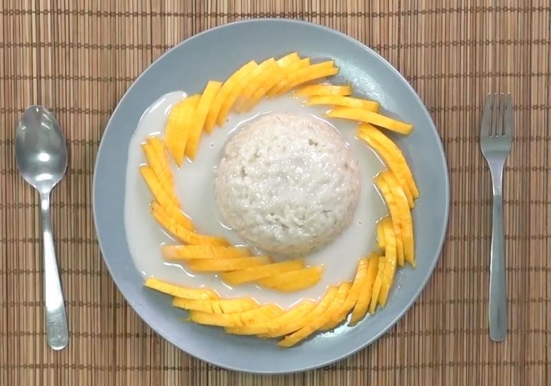 影音》DIY人氣泰式甜點「芒果糯米飯」重現道地好滋味