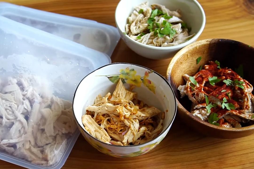 雞胸肉變出 3 道「雞絲料理」!高蛋白冰箱常備菜10分鐘上桌