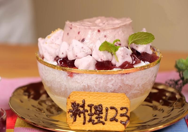 粉紅少女心噴發!DIY飯店級甜品「起司覆盆子棉花糖冰」