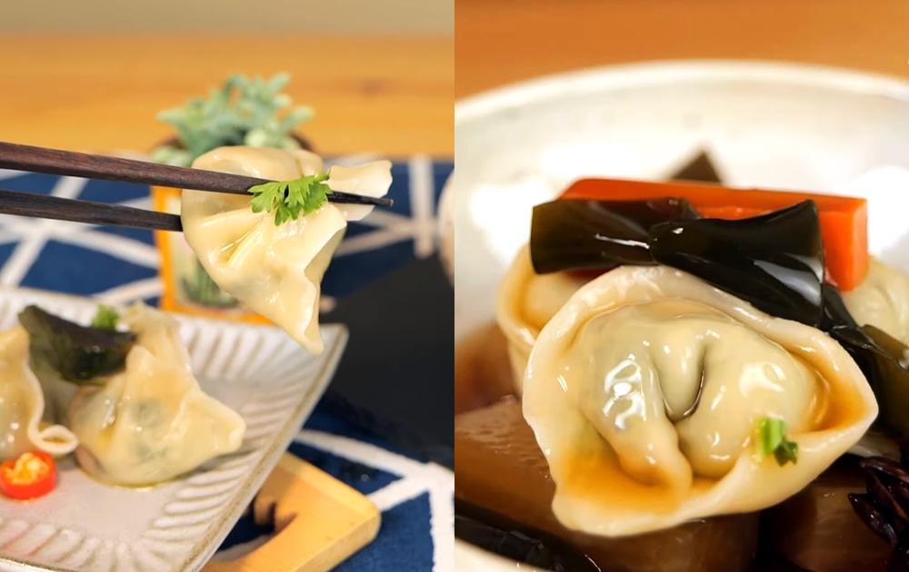 「雪菜素水餃」這樣包比肉餡還美味!搭滷蘿蔔升級湯餃更好吃