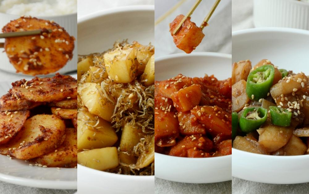 馬鈴薯變出4道韓式小菜!醬燒、甜辣、炒小魚乾都好吃