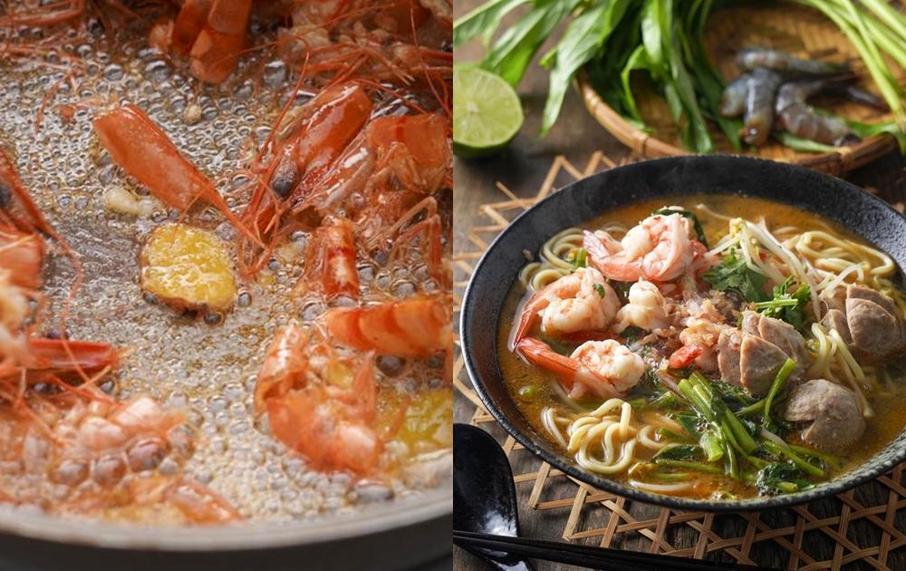 蝦殼蝦頭別丟!詹姆士教你「煸蝦油、做蝦麵」料理瞬間變鮮香