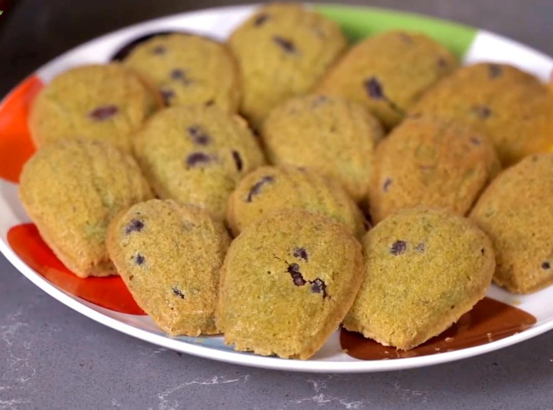 親子烘焙「瑪德蓮貝殼蛋糕」抹茶蜜紅豆口味甜而不膩