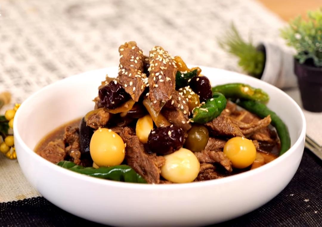 韓式家常冷菜「醬牛肉」!牛肋條+鵪鶉蛋美味雙料好下飯