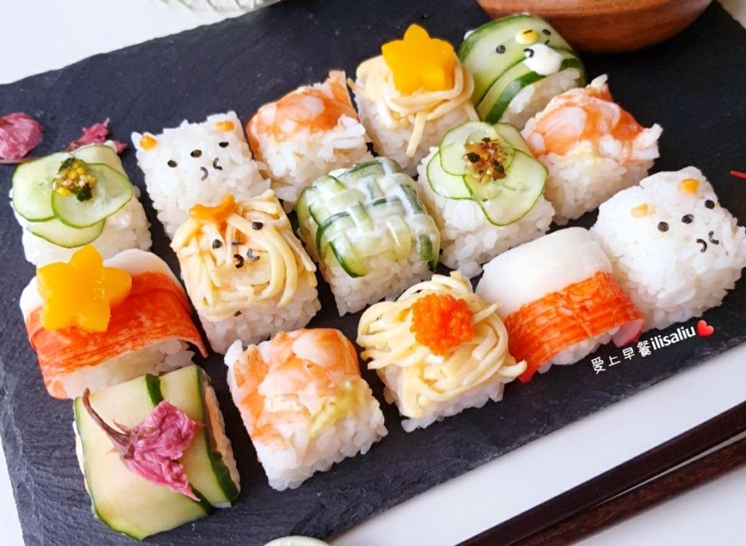 免捲免捏的萌版迷你壽司!一秒上桌竟然全靠「製冰盒」