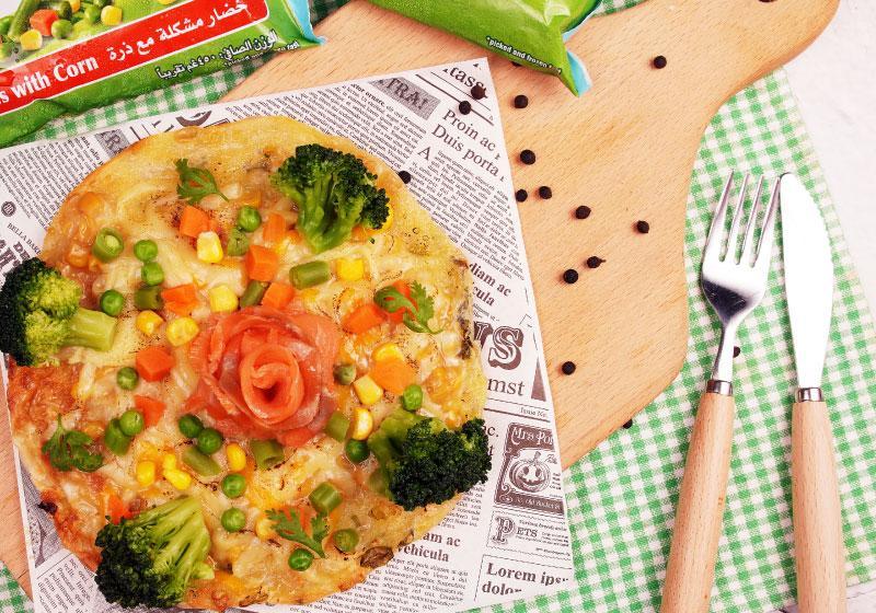 媽咪好神!將蔥油餅搖身一變成健康PIZZA