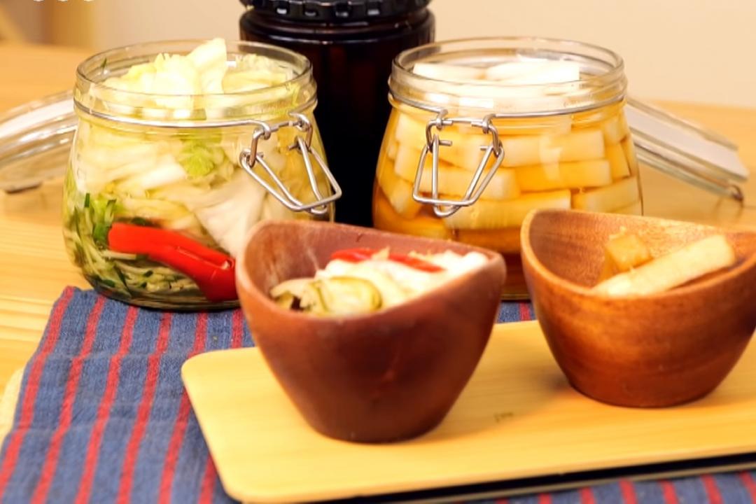 家常必備泡菜雙味:台式辣味泡菜、醬香漬蘿蔔